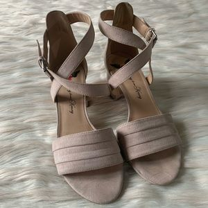Penny Loves Kenny Alexie Faux Suede Heeled Sandal